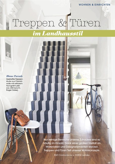 Landhaus showing Fitzroy Black stair runner - January 2015