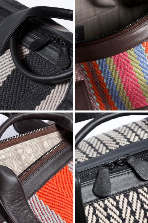 Travel bag detail montage