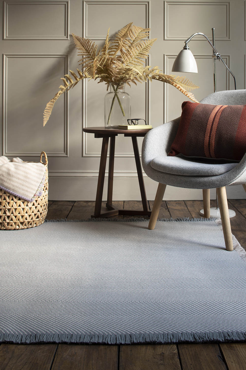 Williamsburg Rug, French Grey