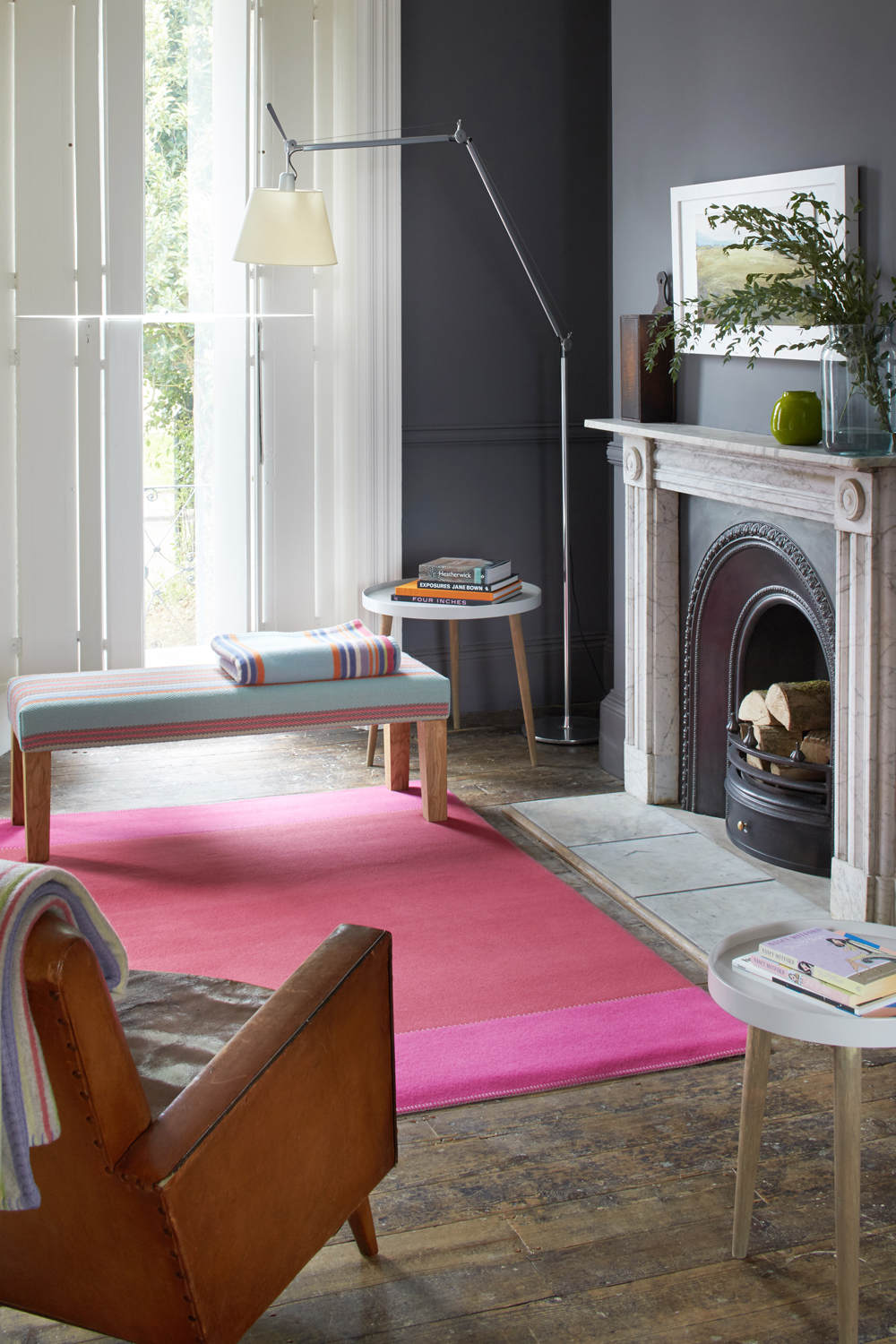 Hugo Tapis Rug, Raspberry & Bright Pink