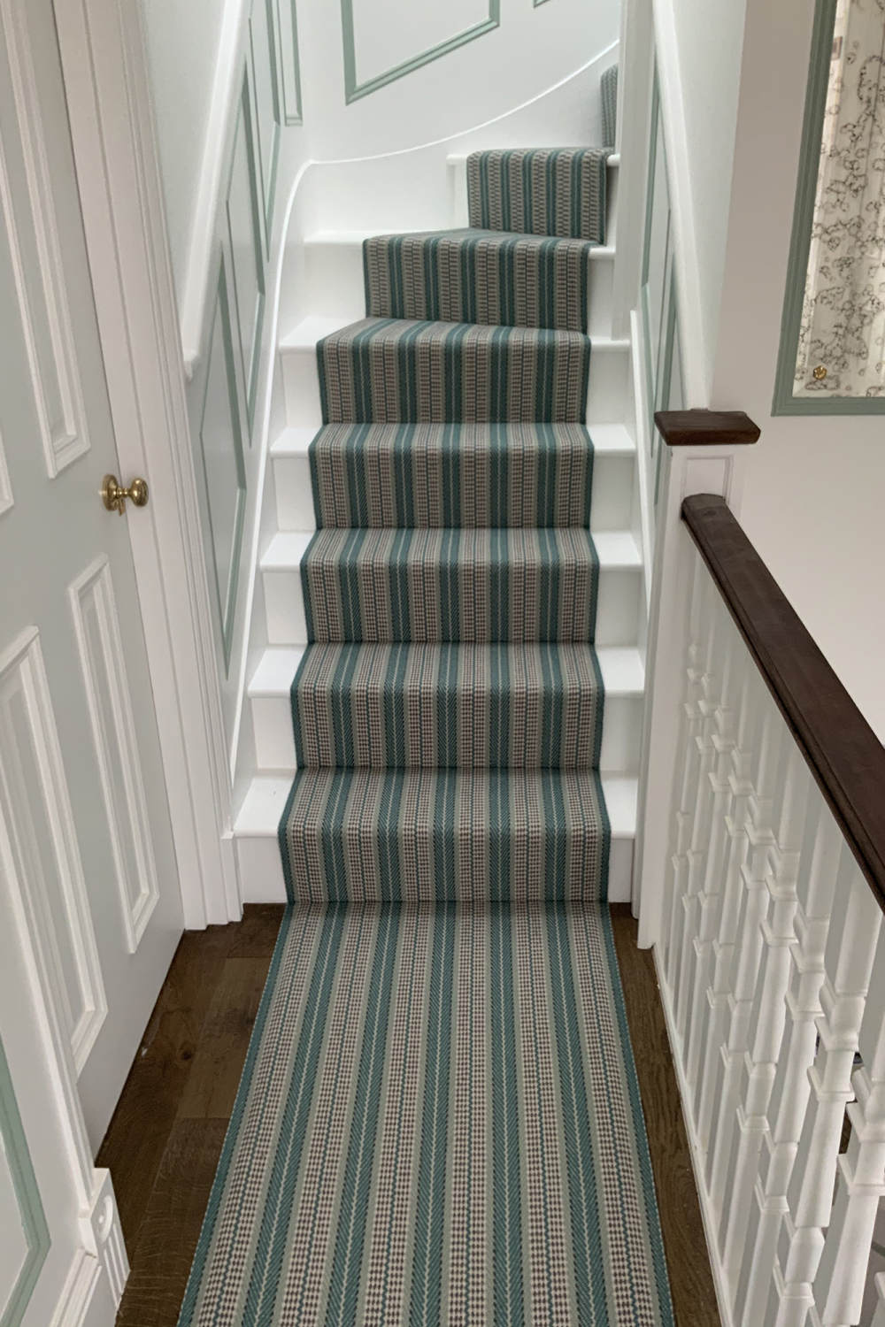 Vernon Teal fitted on 6 winding steps over a 180 degree turn