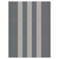Vertical Stripe Pewter